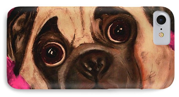 Pug - Chloe IPhone Case by Laura  Grisham