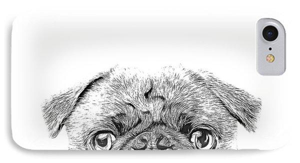 Pug Dog Sketch IPhone Case