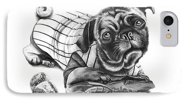 Pug Ruth  IPhone Case by Peter Piatt