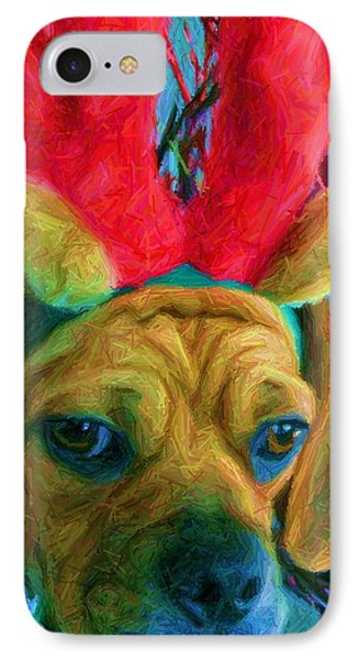 IPhone Case featuring the photograph Puggle Holiday by Susan Carella