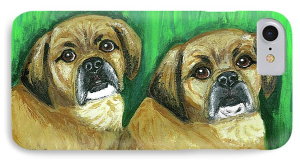 Puggles Bruno And Louie IPhone Case by Ania M Milo