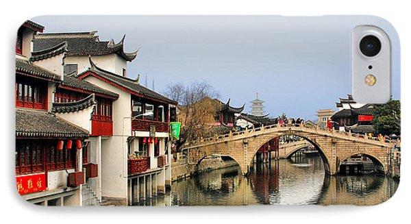 Puhuitang River Bridge Qibao - Shanghai China Phone Case by Christine Till