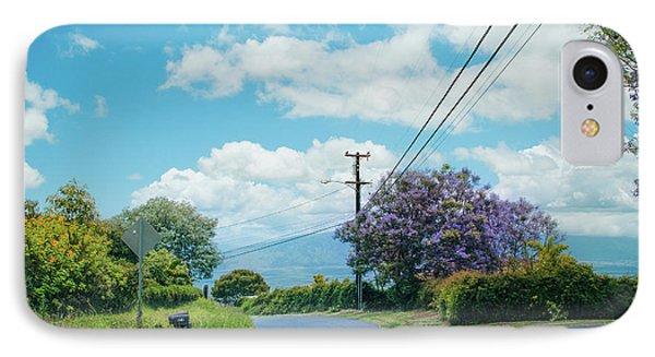 Pulehuiki Road Upcountry Kula Maui Hawaii IPhone Case by Sharon Mau