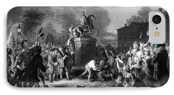 Pulling Down The Statue Of George IIi IPhone Case by War Is Hell Store