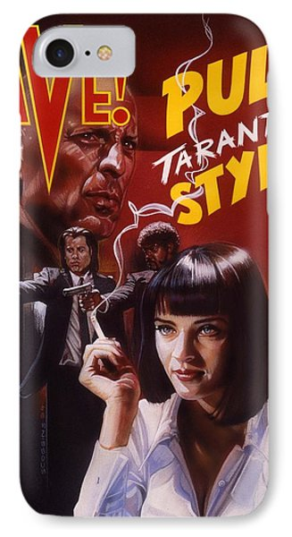 Pulp Fiction IPhone Case by Timothy Scoggins