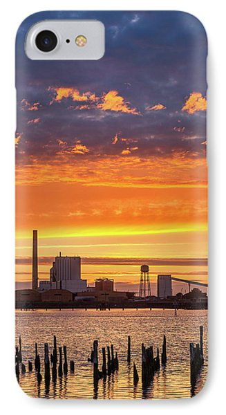 Pulp Mill Sunset IPhone Case by Greg Nyquist
