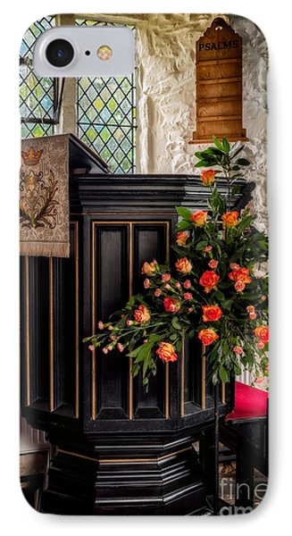 Pulpit And Flowers IPhone Case