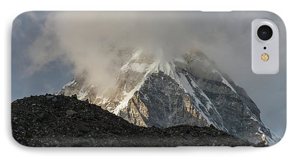 IPhone Case featuring the photograph Pumori Dusk Light by Mike Reid