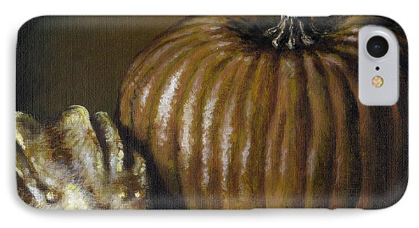 Pumpkin And Winged Gourd Phone Case by Adam Zebediah Joseph
