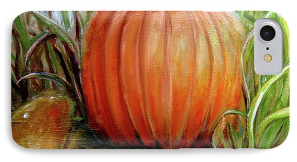 IPhone Case featuring the painting Pumpkin Patch  by Bernadette Krupa