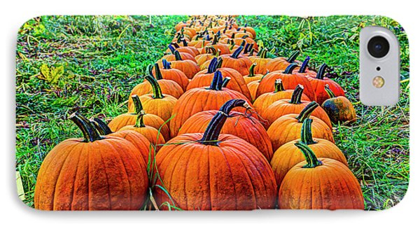 Pumpkin Patch IPhone Case by Dale R Carlson