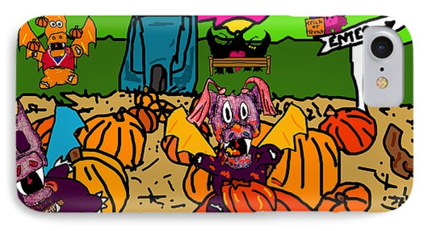 Pumpkin Patch Phone Case by Jera Sky