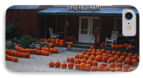 Pumpkin Patch Little Field Farm New Hampshire 2 IPhone Case by Toby McGuire