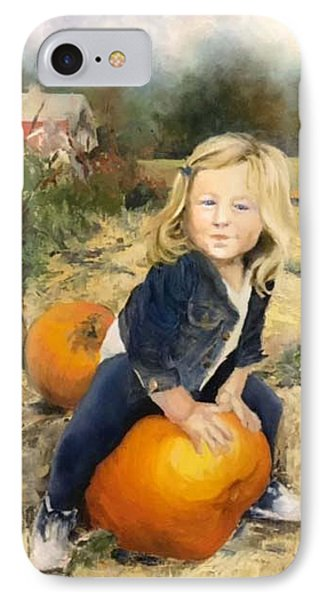 IPhone Case featuring the painting Pumpkin Patch by Lori Ippolito