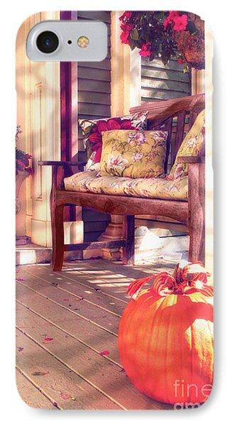 Pumpkin Porch IPhone Case
