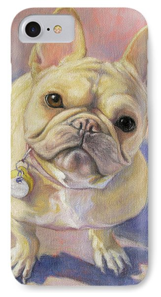 Pumpkin The French Bulldog IPhone Case by Tracie Thompson