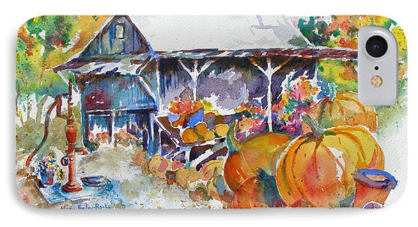 IPhone Case featuring the painting Pumpkin Time by Mary Haley-Rocks
