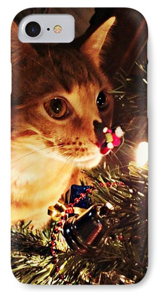 Pumpkin's First Christmas Tree IPhone Case