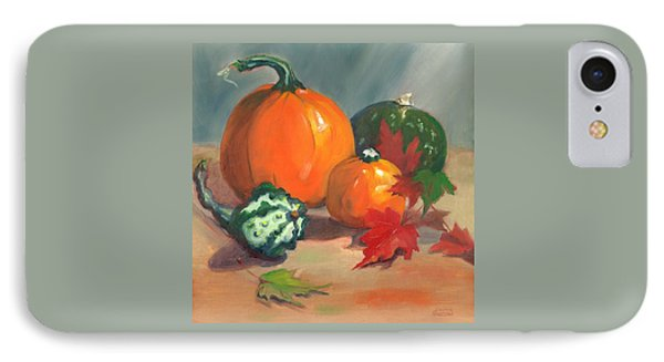 IPhone Case featuring the painting Pumpkins by Susan Thomas