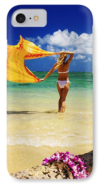 Punaluu Beach Vacation Phone Case by Tomas del Amo - Printscapes