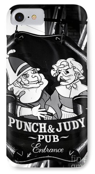 Punch And Judy Pub Phone Case by John Rizzuto