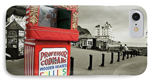 Punch And Judy Theatre On Llandudno Promenade Phone Case by Mal Bray