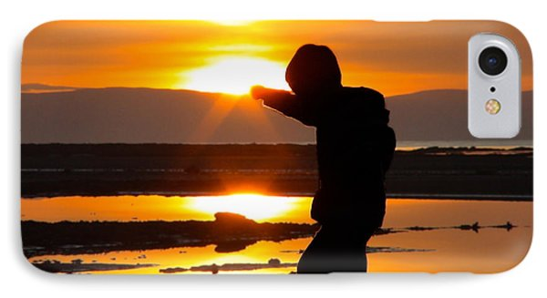 IPhone Case featuring the photograph Punching The Sun by RKAB Works