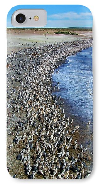 IPhone Case featuring the photograph Punta Tombo Megellan Penguins by Michele Penner