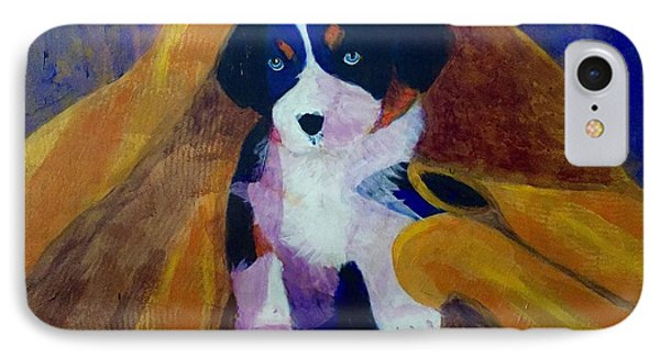 IPhone Case featuring the painting Puppy Bath by Donald J Ryker III