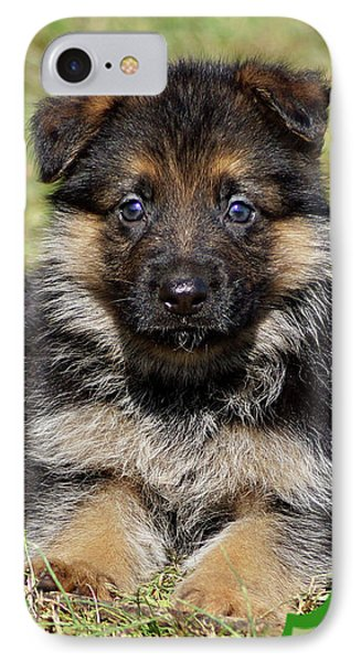 IPhone Case featuring the photograph Puppy In Heart by Sandy Keeton