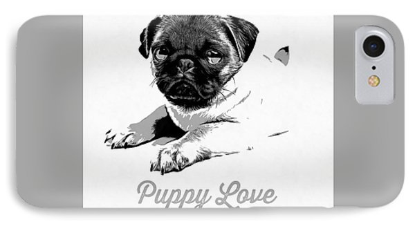 Puppy Love IPhone 7 Case by Edward Fielding