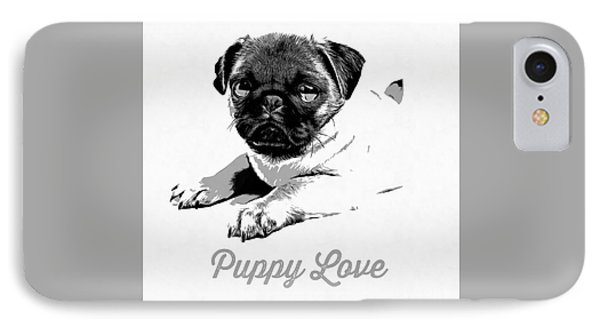 Puppy Love IPhone Case by Edward Fielding