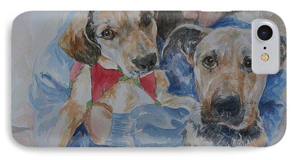 Puppy Love IPhone Case by Gloria Turner