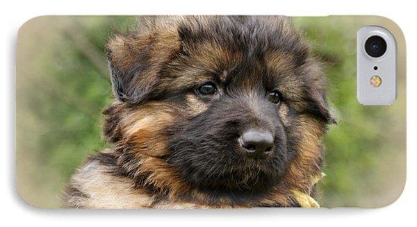Puppy Portrait II Phone Case by Sandy Keeton