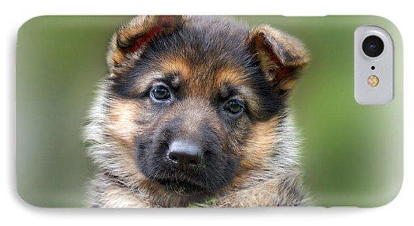 Puppy Portrait Phone Case by Sandy Keeton