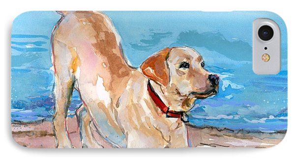 Puppy Pose IPhone Case by Molly Poole