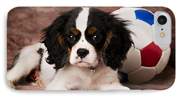 Puppy With Ball Phone Case by Garry Gay