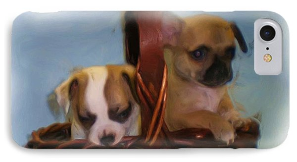 Pups In A Basket Phone Case by Beverly Johnson