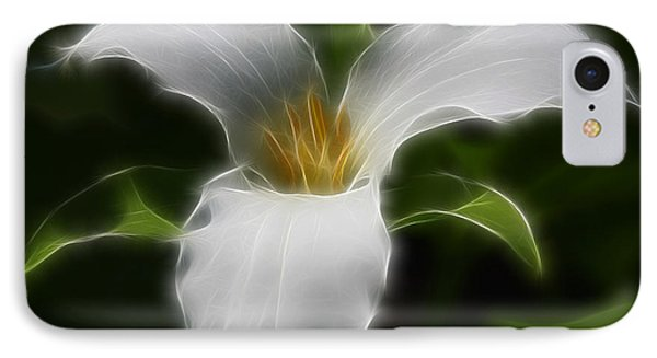 Pure White Trillium Phone Case by Deborah Benoit