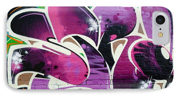 IPhone Case featuring the painting Purple Abstract Graffiti by Yurix Sardinelly