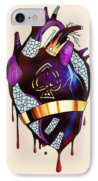 Royal Heart  IPhone Case by Kenal Louis