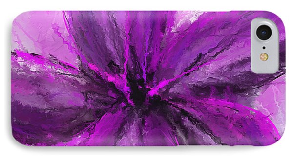 Purple And Gray Art IPhone Case by Lourry Legarde