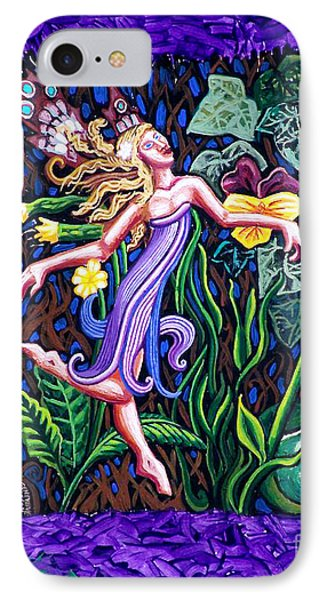 Purple And Green Fairy IPhone Case by Genevieve Esson