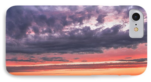 Purple And Red Sky Over Warsaw And Vistula River IPhone Case by Julis Simo