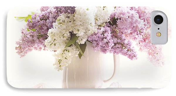 IPhone Case featuring the photograph Purple And White Lilacs Still Life by Sylvia Cook