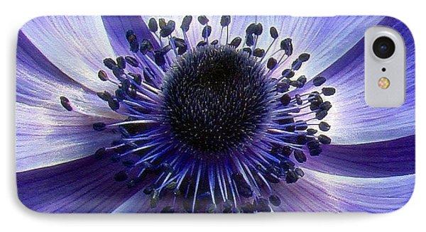 Purple Anemone Macro IPhone Case by Sue Melvin