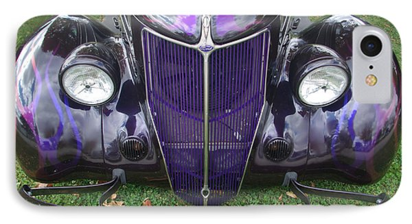 Purple Antique Ford IPhone Case by Kathy M Krause