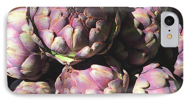 Purple Artichoke Photograph IPhone Case by Ivy Ho