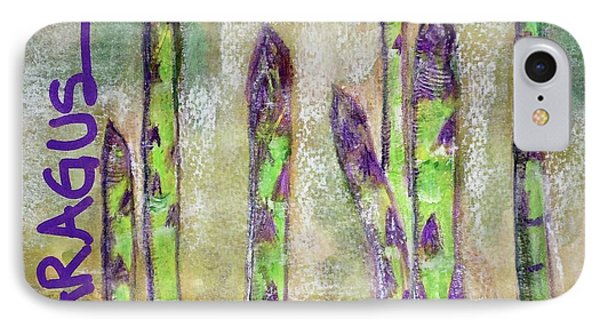 IPhone Case featuring the painting Purple Asparagus by Kim Nelson