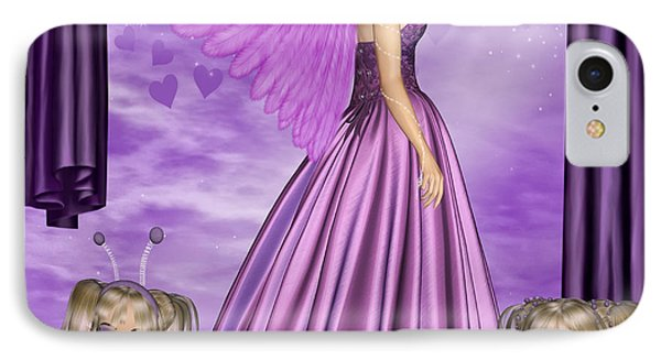 IPhone Case featuring the digital art Purple Awareness by Digital Art Cafe